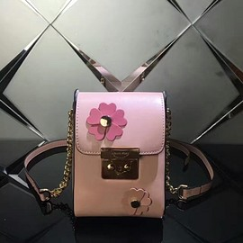 MICHAEL KORS - MICHAEL Michael Kors Scout Floral Applique Leather Crossbody Pink