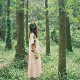 Girl in the Woods.