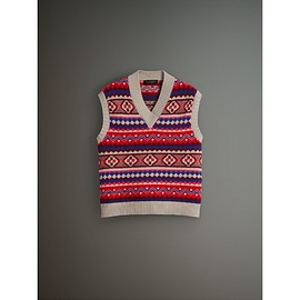 BURBERRY - Fair Isle Wool Cropped Tank Top(2017 September)
