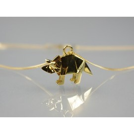 Origami Jewelly - Origami Jewelly Triceratops ネックレス ゴールド