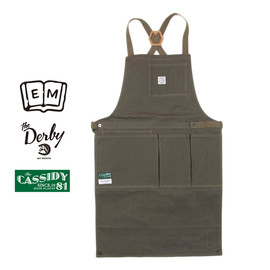 ENDS and MEANS - ENDS and MEANS [エンズアンドミーンズ] / Utility apron - CASSIDY & Derby 別注エプロン / OLIVE