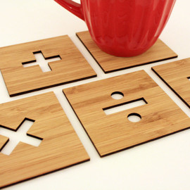 GeekModish - Basic Math Signs Coasters