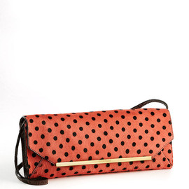 BRAHMIN - Pink Alexis Polka Dot Calf Hair Clutch