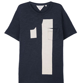 Rag & Bone - rag & bone Official Store, RGBN-3696 Numbers Tee - Navy, rag-bone.com