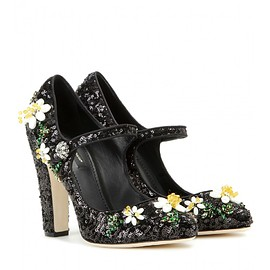 DOLCE&GABBANA - Embellished Mary Jane pumps