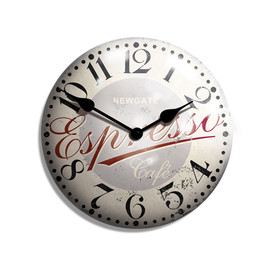 Newgate Clocks - Espresso Advertising Wall Clock