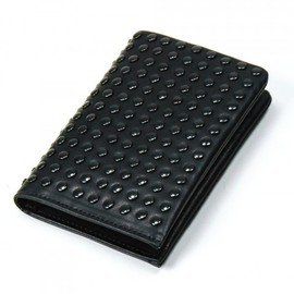 PATRICK STEPHAN - Leather card case 'all-studs'