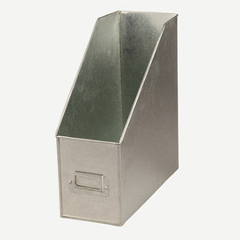conran - GALVANISED MAGZINE BUTLER WITH CARD HOLDER