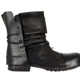 CINZIA ARAIA - Washed Calfskin Ankle Strap Boots