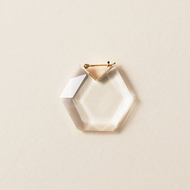 Seta - HEXAGON FLAT EARRING L