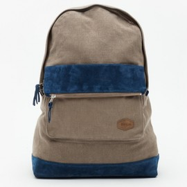 Brooklyn We Go Hard - Grey/Navy Backpack