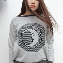THE ORPHAN'S ARMS - Image of MOON FACE knitted jersey