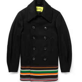 Raf Simons - Sterling Ruby Wool and Silk-Blend Peacoa