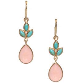 Eddera  - Marquise Earrings Turq-Peach - More Details
