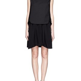 3.1 Phillip Lim - Whipstitch leather trim dress combo
