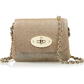 Mulberry - Lily mini metallic textured-leather shoulder bag