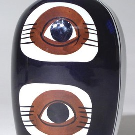 "Royal Copenhagen - Fajence Vase ""eye"" pattern"