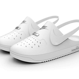 NIKE - Crocs x Nike Air Force 1 Clog Hybrids by Kegan McDaniel