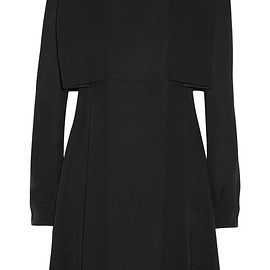 VALENTINO - Cape-effect silk-crepe mini dress