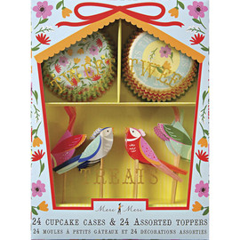 Meri Meri - Floral Birds Treat Cupcake Kit