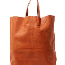moussy - simple Leather Tote Bag