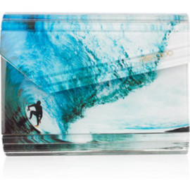 JIMMY CHOO - Candy Surfer Waves Printed Acrylic Clutch