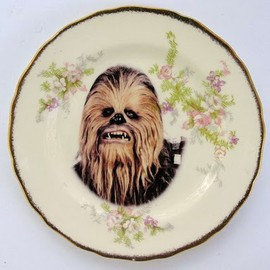 Angela Rossi - Antique plate Star Wars