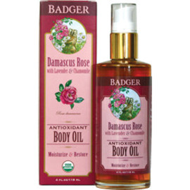Badger Balm - organic rose body lotion