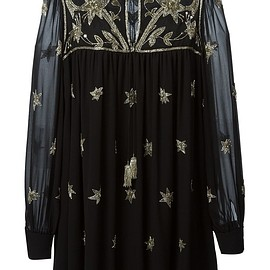 SAINT LAURENT - SS2015 embroidered tunic dress