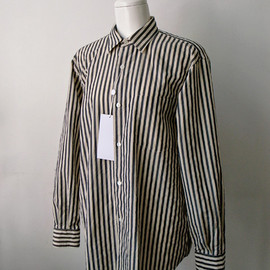 COMOLI - Navy Stripe Shirts