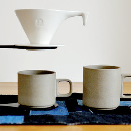 Hasami Porcelain × ONE KILN CERAMICS - コーヒードリッパーセット + マグ2pcs 白×natural