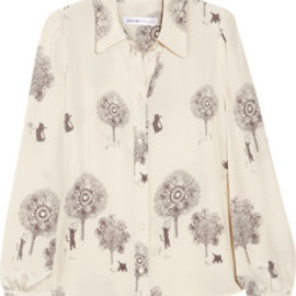See by Chloé - Cats and Trees printed silk blouse