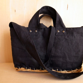 ardem su o - BLACK SLIDE TOTE BASKET