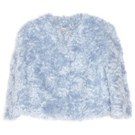 miu miu - Mohair and cotton-blend shag cropped jacket