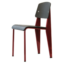Jean Prouve - Standard Chair  oak/japanese red