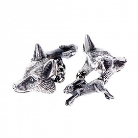 NATURAL HISTORY MUSEUM uk - Sterling silver fox and rabbit cufflinks