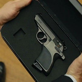 James Bond pistol in Skyfall Walther PPK/S  biometric palm-scanner