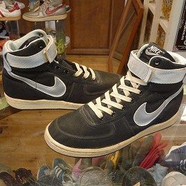"NIKE - 「<deadstock>80's NIKE VANDAL HI black/silver""made in KOREA"" size:US7(25cm) 13800yen」完売"