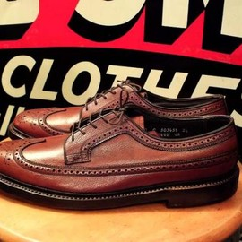 FLORSHEIM - 1970's Imperial WING TIP BRW