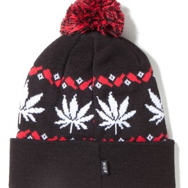 HUF - Black Nordic Leaves Beanie