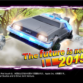 プレミアムバンダイ - デロリアン iPhoneケース CRAZY CASE BACK TO THE FUTURE II DELOREAN TIME MACHINE