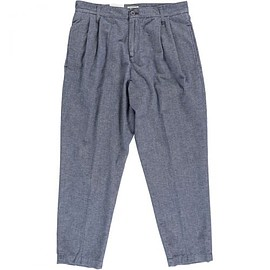 EDWIN - PLEATED TROUSER TWISTED CHAMBRAY LIGHT BLUE