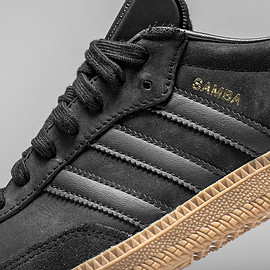adidas originals - Samba - Black/Gum/Metallic Gold