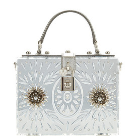 DOLCE&GABBANA - FW2015 Embellished Plexi Mirror Dolce Bag