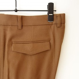 WYATT - Super120's Saxony Stretch Slim Tapered Trousers
