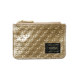 "HEAD PORTER - ""ZIGGY"" ZIP COIN CASE GOLD"