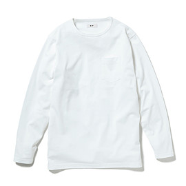 HEAD PORTER PLUS - POCKET L/S TEE WHITE