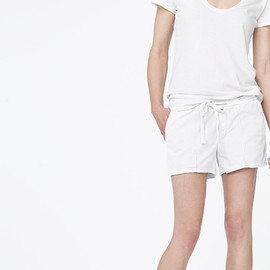 James Perse - PINTUCKED KNIT TWILL SHORT