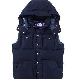 THE NORTH FACE PURPLE LABEL - Indigo Hooded Sierra Vest