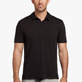 JAMES PERSE - SUEDED JERSEY POLO